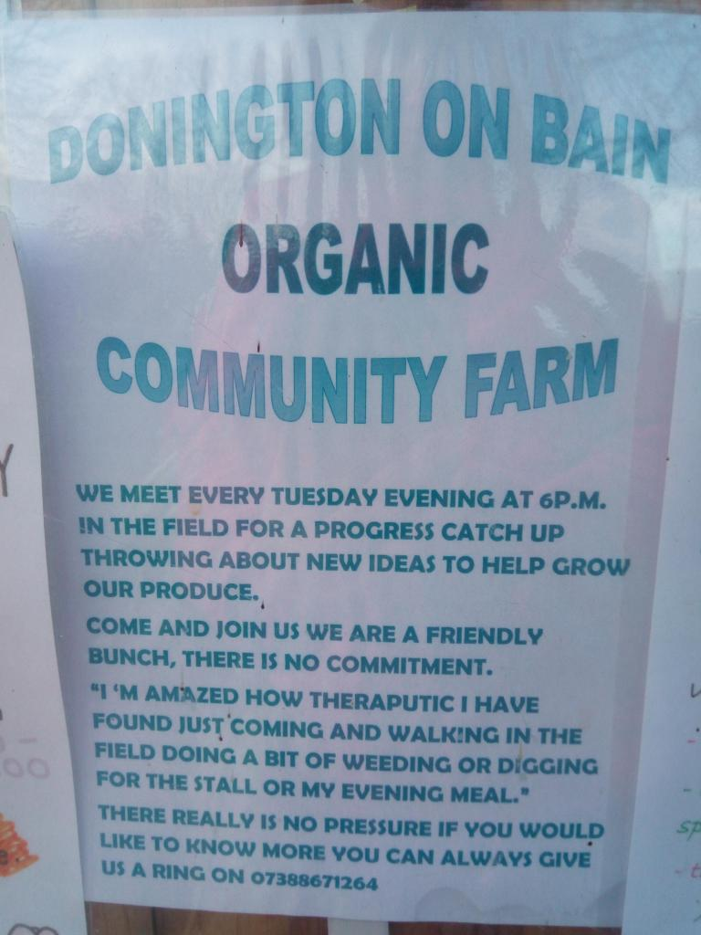 Donington on Bain organic community farm
